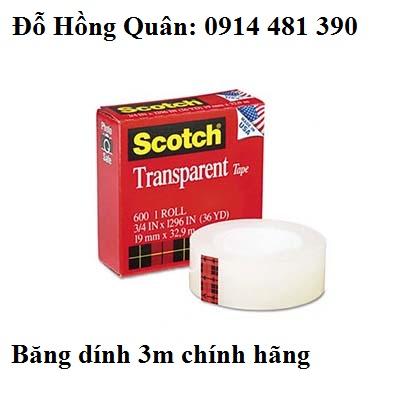 Băng dính 3m 600 scotch transparent