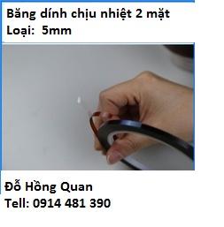 Băng dính chịu nhiệt 2 mặt 5mm