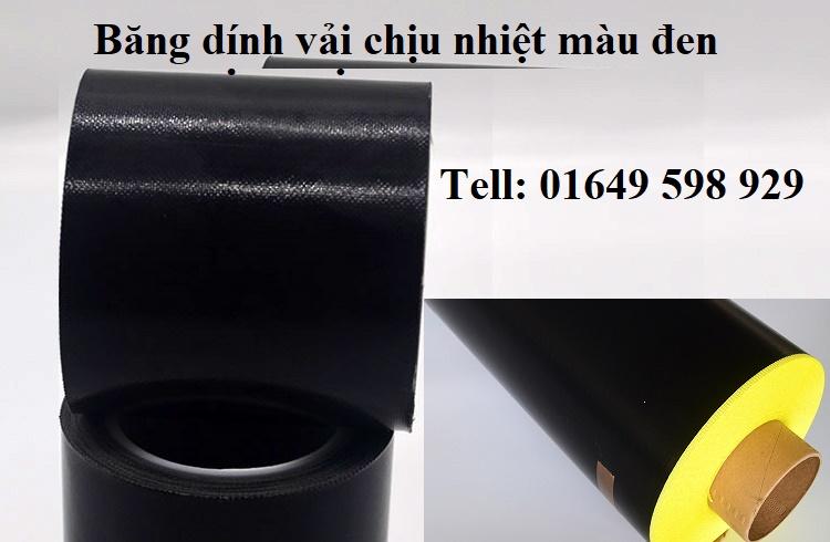 Băng dính vải chịu nhiệt màu đen
