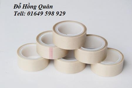Băng keo vải chịu nhiệt PTFE màu trắng
