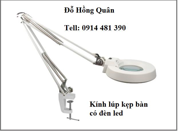 Kính lúp -kẹp bàn- có đèn led