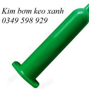 Xi lanh bơm keo màu xanh